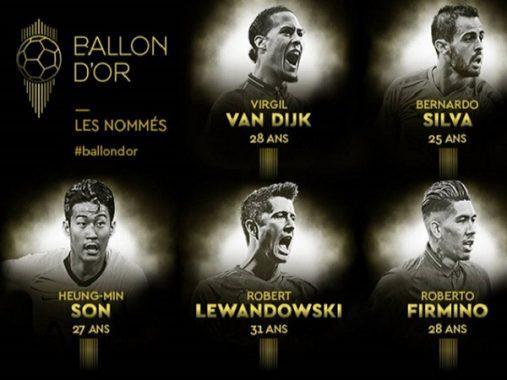 Chính thức công bố danh sách rút gọn Quả bóng Vàng 2019