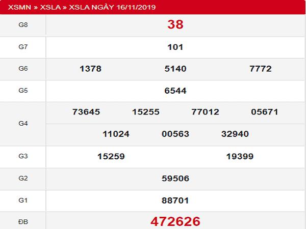 Soi cầu KQXSLA ngày 23/11 từ các cao thủ xác suất trúng lớn