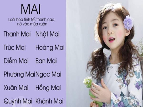 Ý nghĩa tên Mai và gợi ý đặt tên đệm cho con với tên Mai