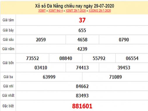 Bảng KQXSDN-Soi cầu xổ số đà nẵng ngày 01/08 hôm nay