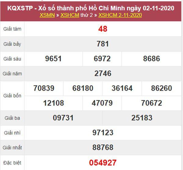 Soi cầu KQXS Hồ Chí Minh 7/11/2020 thứ 7 cùng chuyên gia