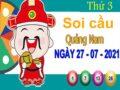 Soi cầu XSQNM ngày 27/7/2021 – Soi cầu KQ xổ số Quảng Nam thứ 3