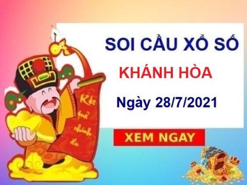 Soi cầu XSKH ngày 28/7/2021 chốt số Khánh Hòa thứ 4