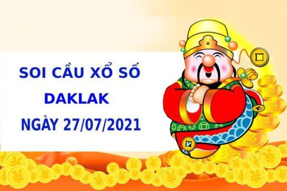 Soi cầu XS Daklak chính xác thứ 3 ngày 27/07/2021