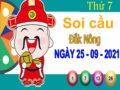 Soi cầu XSDNO ngày 25/9/2021 đài Đắk Nông thứ 7 hôm nay chính xác nhất