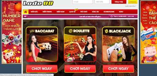 Sảnh cược Casino live tại web Lode88