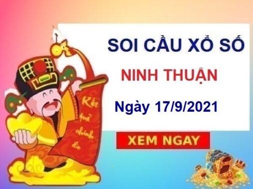Soi cầu KQXSNT ngày 17/9/2021 chốt bạch thủ đài Ninh Thuận