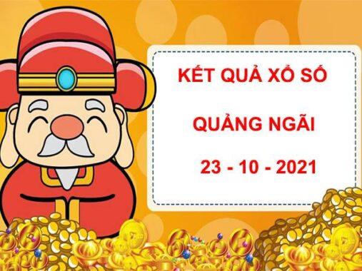 Soi cầu xổ số Quảng Ngãi 23/10/2021 hôm nay thứ 7